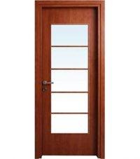 דלת דובדבן צוהר גדול לאורך